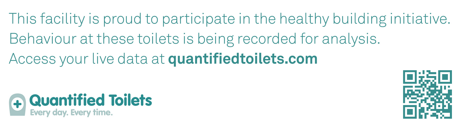 Quantified Toilets sticker